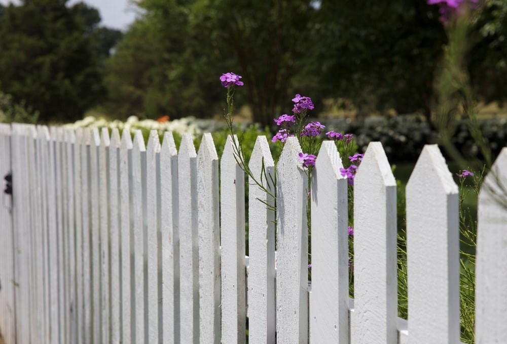 White picket fence in the front yard to Increase Your Property's Value