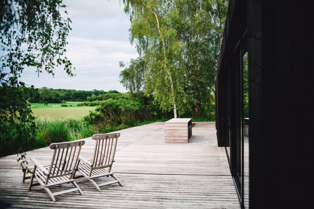 Outdoor deck extension with permits