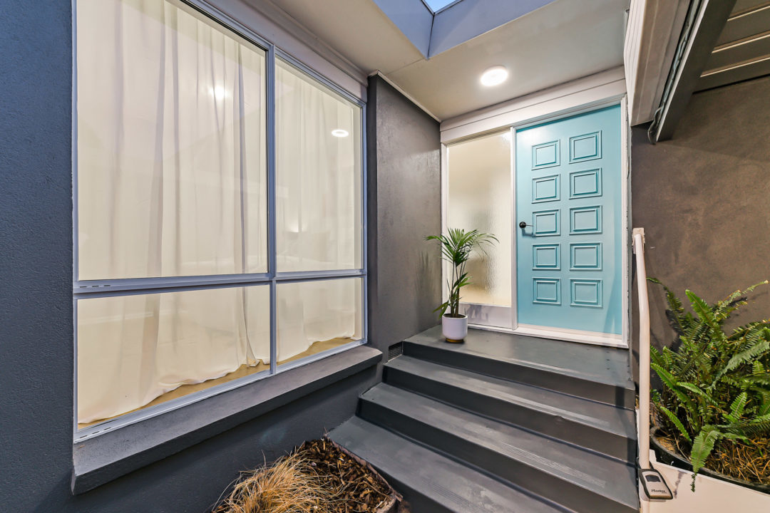 Noble Park home with blue front door